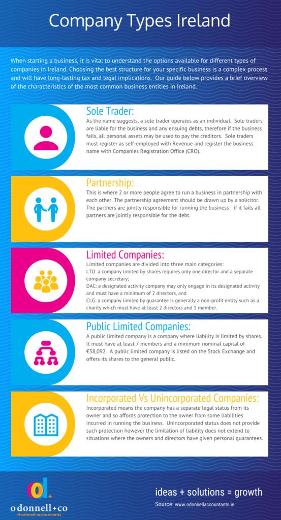 Company Types Ireland infographic
